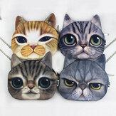 Donna Cartoon 3D Cat Head Personalità Cute Shoulder Borsa Crossbody Borsa