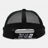 Unisex Hollow Out Full-Mesh Breathable Fashion Outdoor Brimless Beanie Landlord Cap Skull Cap