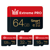 Extreme Pro عالية السرعة 16GB 32GGB 64GB128GB Class 10 TF Memory بطاقة Flash Drive مع بطاقة محول لـ iPhone 12 لـ Samsung Galaxy S21 Smartphone Tablet Switch Speaker Drone Car DVR GPS الة تصوير