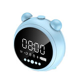 [bluetooth 5.0] Portable Wireless bluetooth Speaker Dual Alarm Clock LED Display FM Radio TF Card Speaker with Mic