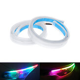 2X RGB 60CM APP LED DRL Slim Bande de course diurne flexible pour phare