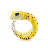 Cute Creative Animal Dorable Gecko Resin Fingerings Accesorios Unisex