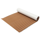 300cm x 90cm x 6mm EVA Foam Faux Teak Sheet Brown met Black Lines Boat Yacht Synthetisch Teak