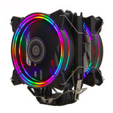 ALSEYE H120D CPU Cooler Ventilador RGB 120MM PWM 4 Pin 6 Heat Pipes Cooler para LGA 775 115x 1366 2011 AM2 + AM3 + AM4