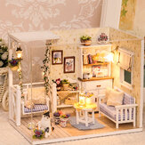 Cuteroom 3013 Cat Diary Doll House DIY-hut met stofkap muziekmotor