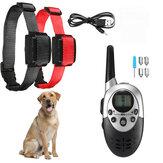 Bouchon d'écorce étanche de collier de dressage de chien électrique Rechargeable à Distance 1000M avec télécommande électrique pour chien 6 ~ 60KG