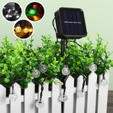 50/100/200LEDs Solar String Fairy Light Ball Lamp Garden Outdoor Waterproof Home Party Decoration