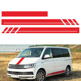 3PCS Side Body Stripes Hood Stickers Decalcomanie per VW Transporter T4 T5 T6 Campervan