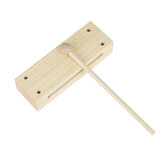 Flanger Toddler Musical Instruments Wooden High-quality Percussion Instrument with Children Mallet Square Two-tone Castanets