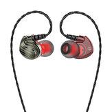 Bakeey S8 4D Stereo HiFi 3,5 mm Kabelsteuerung Heavy Bass In-Ear Sport Kopfhörer mit Mikrofon