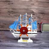 新年の地中海セーリングオルゴールギフト創造的な木製ヨットクラフトギフトお土産