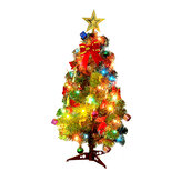 Mesa de 30cm / 45cm / 60cm de altura Xmas Tree Artificial Mini Christmas Tree com LED String Light Enfeites Decoração para casa