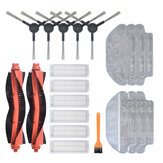 20pcs Replacements for Xiaomi Mijia STYTJ02YM MOP PRO Viomi V2 V3 Vacuum Cleaner Parts Accessories Main Brushes*2 Side Brushes*5 HEPA Filters*6 Wet Mop Clothes*3 Dry Mop Clothes*3 CleaningTool*1 [Non-Original]