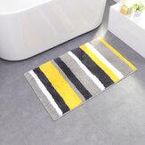 Honana CT-043 Microfiber Line Двойные полоски для дверных и домашних ковриков Нескользящий абсорбирующий ковер
