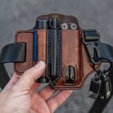 Genuine Leather EDC Belt Loop Waist Multitool Sheath Belt Bag Waist Bag