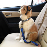 Dog Retractable Leopard Car Seat Belt Safety Rope Puppy Seat Belt Leashes Universal