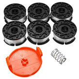 6 pcs 30ft Trimmer Line Substituição Carretel Cap Cover Spring Para Black e Decker String Trimmers