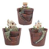 Mini Planta Pote criativo decoração de mesa nórdico porta-canetas redondos acessórios de mesa em resina