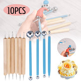 10Pcs DIY Dotting Tool Ball Styluses Tools Kit For Mandala Rock Painting Pottery Clay
