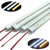 50CM SMD 5730 36 LED kaku Strip Tube Bar Cahaya Lampu Dengan U Aluminium Shell + PC Sampul DC12V