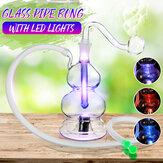 LED Hoookah Boru Su Sigara Borular Cam Boru Şişe Işıkları Değişiyor