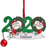 2020年のクリスマスの誕生日パーティーの装飾ギフトパーソナライズされたハンギングオーナメント