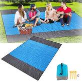 200x210см свободный песок Пляжный одеяло складной легкий коврик для пикника Водонепроницаемы Пляжный коврик для путешествия Кемпинг