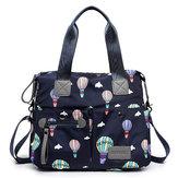 MulheresNylonMultiPocketWaterproofLightweight Handbag Shoulder Crossbody Bolsa