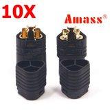 10 Pairs Amass MT60 Trzy-otworowe złącze wtykowe Black Male i Female