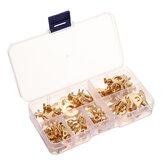 250 шт. Кольцо Тип Золотые клеммы Золотая латунь Неизолированные обжимные клеммы Разъемы 3,2-10,2 мм Кабель Провод Разъем