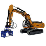 946-3 1/14 12CH Simulation RC Hydraulic Heavy Excavator Metal Vehicle Model with Adjustable Boom and Remote Control Engineering Car