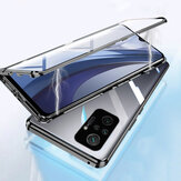 Bakeey for Xiaomi Redmi Note 10 Pro/Redmi Note 10 Pro Max Caso 2 em 1 Magnetic Flip Double-Sided Glass Tempered Glass Metal Full Cover Protective Caso Non-Original