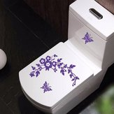 Funny Novelty Butterfly & Flower Toilet Seat / Sticker / Decal Mode Wall Stikcer Badkamer Decoraties