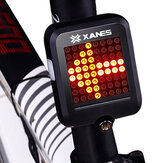 XANES 64 LED 80LM Intelligent Automatic Induction Steel Ring Brake Safety Bike Tail Light with Infrared Laser
