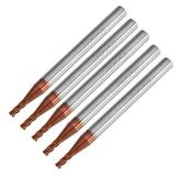 Drillpro 5 stücke 2mm 4 Flöten Hartmetall Schaftfräser HRC55 AlTiN Coating Schaftfräser