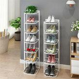 5/8 couches chaussures de fer étagère support organisateur support support de stockage de bureau à domicile