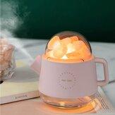 Przenośny kryształowy nawilżacz aromaterapeutyczny USB bezprzewodowy czajnik Aroma dyfuzor olejków eterycznych nawilżacz powietrza z lampą atmosferyczną