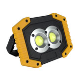 DCL-0058  20W USB Rechargeable Work Light COB LED Camping Lantern Floodlight Flashlight Tent Lamp Spotlight Searchlight Portable Light