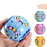WEE Ponta do dedo Feijão Mágico Alívio do Stress Giroscópio Rotativo Rodada Cube Brinquedos Brinquedos Educativos para Crianças e Adultos