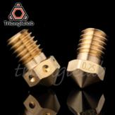 Trianglelab® / Dforce® T-V6 Brass Nozzle V6 Nozzle for 3D printers hotend M6 Thread for E3D Nozzles hotend titan extruder