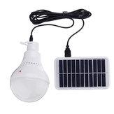 7 W Taşınabilir Solar Paneli USB LED Kampçılık Outdoor Acil Balıkçılık Lamba için Ampul Işık