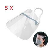 ZANLURE 5PCS Adjustable Transparent Anti Splash Dust-proof Protect Full Face Covering Safety Mask Visor Shield