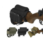 Tactical Buttstock Ammo Cartridges Holder Airsoft Hunting Bullet Carrier Holsters Pouch
