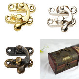 4 pcs Buckle Dark Wooden Box  Accessories Buckle Snap Shackle Buckle Box  lock