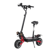 LAOTIE ES18 60 V 31.2Ah 2800 W * 2 Çift Motor Eyer Ile 85Km / h Katlanabilir Elektrikli Scooter Üst Hız 100 km Kilometre 200 kg Rulman AB Tak