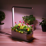 Indoor Herb Adjustable Hydroponic Garden Flower Grow Lamp Kit Planting Light Pot With Yellow Visible Window