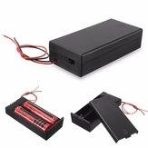 Plástico Batería Soporte de almacenamiento Caja Caso Interruptor de ENCENDIDO / APAGADO del contenedor para 2x18650 Baterías 3.7V