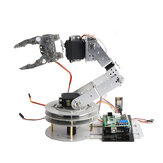 6Dof Silver Smart Robot Arm Kit with 6Pcs MG996R 180° Servos