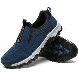 Hommes Soft Slip Sur Confortable Usure Résistance Outsole En Plein Air Randonnée Casual Sneakers Chaussures