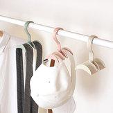 Rotated Storage Rack Bag Hanger Plastic Clothes Rack Creative Tie Coat Closet Hanger Wardrobe Organizer